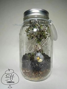 Totoro in Balls Jar Terrarium  Find us on Facebook :: puff terrariums #puff #terrarium #home #work #sky #decor #decoration #plant #cactus #garden #cat #puppy #wedding #centerpiece #green #moss #gift #DIY #crafts #art #cute  #jar #happy #bottle #yolo #lol #hkig