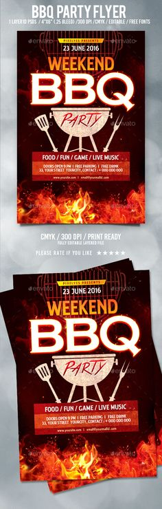 Western Bbq Charity Flyer Template  Flyer Template Template And
