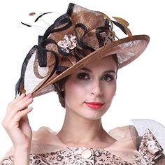 Kueeni Women Hat Wide Brim Hats For Wedding Tea Party Formal Hats Kueeni http://smile.amazon.com/dp/B0171CKEWI/ref=cm_sw_r_pi_dp_5eO-wb07EF8RP