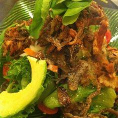 Crispy Salmon Skin Salad @ Sonie's Japanese Fusion Food At J-Avenue