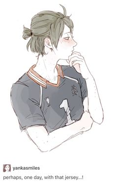 Ponytail and Captainship? Oh yesssssss!!! #Yamaguchi #hq
