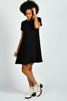 Hetty Short Sleeve Swing Dress at boohoo.com