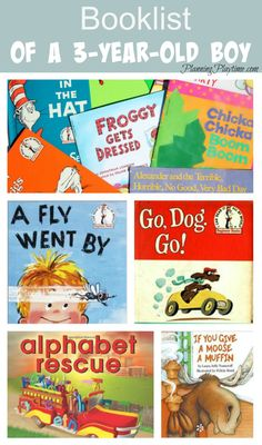 Wondering what to read to your toddler? Check out this book list for a 3-year-old boy. It covers alphabet letters, fire engines, dogs and pirates.