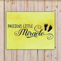 Precious Little Miracle  Yellow Wall Art Decor by doodlingpeapod