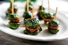 These Brussels Sprouts Sliders make a tasty vegan finger food appetizer!