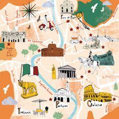Map of Rome - Le Parisien - Tonwen Jones