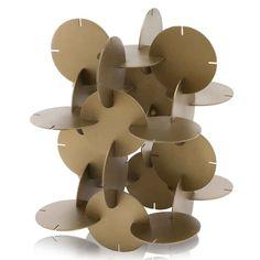 Cardboard Sculpture, Cardboard Art, Cardboard Design, Cardboard Playhouse, Modern Art Sculpture, Bronze Sculpture, Geometric Sculpture, Art Sculptures, Geometric Lamp