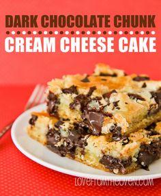 Dark Chocolate Chunk Cream Cheese Cake