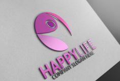 Happy Life Logo by Josuf Media on Creative Market