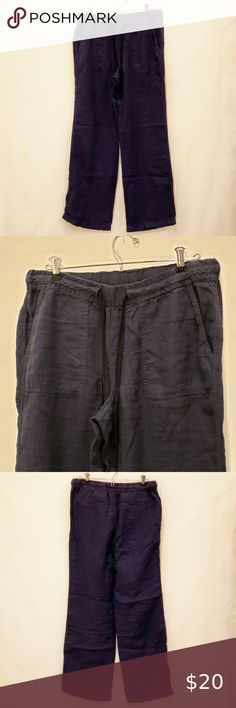 Capsule ladies shorts plus size 16 18 22 24 28 30 navy drawstring linen blend