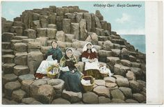 Antique Postcard of the Giant's Causeway  Wishing by bananastrudel