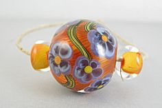 Flowers In The Sun Lampwork Bead Set