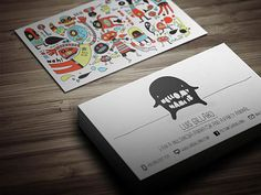 Multimedia Artist Business Card by Theme Flava, business card, graphic design, visual identity, patterns, illustration, animal, people