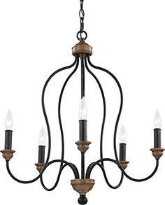 Feiss F2998/5DWZ/WO 5-Light Chandelier