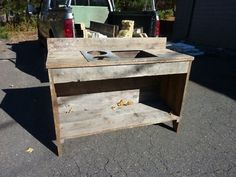 Details about custom made Potting garden table salvaged sink & floor