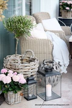 Terras en de meest gestelde vraag. (Dromen komen uit) Dreams Come True, Balcony Design, Interior Garden, Outdoor Furniture Sets, Outdoor Decor, Outdoor Living, Sweet Home, Home And Garden, Garden Path