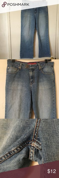 Nautica brand jeans size 8 Nautica brand jeans size 8. These are in good condition with a minor imperfection seen in last pic. Barely noticeable Nautica Jeans