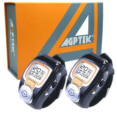 AGPTek Wristwatch Walkie Talkie 2-Pack. It's a lightweight, compact two-way communication device that can be used to stay connected with family of friends at parks, shopping mails, sporting events, concerts-virtually any indoor or outdoor activity.