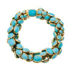 Seaman Schepps Retro Design Turquoise Bracelet
