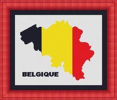 BELGIQUE / BELGIUM/ belgie map-Counted by LudivinePointDeCroix