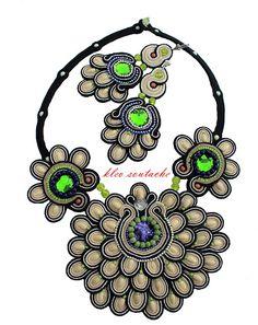 Sutasz Kleo /Soutache jewellery: Komplet sutasz Aaliyah