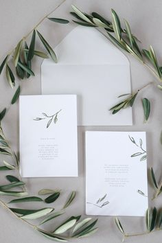 Tuscany Wedding Botanical Invitations