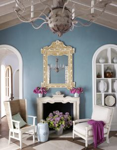 periwinkle blue. love this color combo!