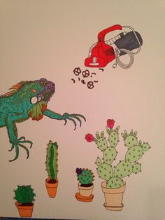 Day dreaming neat freak iguana