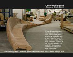 Artistic Wooden Centennial Bench