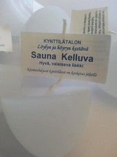Kelluva saunakynttilä   sisustusjadelin.fi Place Cards, Place Card Holders, Personalized Items