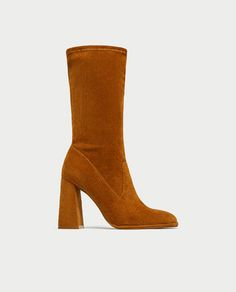 Image 2 of CORDUROY HIGH HEEL ANKLE BOOTS from Zara