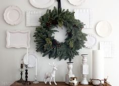 love this display with white plates! via the inspired room