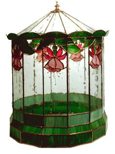 stained glass terrarium.  I've owned this pattern forever.  I still find it very cool and perhaps one day... #StainedGlassTerrarium