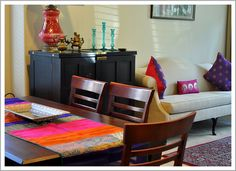 Anek Design meets My Dream Canvas! Indian Home Interior, Indian Interiors, Indian Home Decor, Home Interior Design, Interior Designing, Kitchen Interior, Dining Corner, Dining Room, Dining Tables