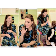"""I should have brought George. He would have loved this."" - what Kate told parents, as she joined in the actions to Twinkle Twinkle Little Star, Row, Row Row Your Boat, and Wind the Bobbin Up. #katemiddleton #duchessofcambridge #2ndpregnancy img.middletonroyalty.tumblr"
