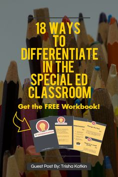 4 Ways to Differentiate in a Special Ed Classroom - http://geekclubbooks.com/2017/02/differentiate-in-special-ed-classroom/?utm_campaign=coschedule&utm_source=pinterest&utm_medium=Geek%20Club%20Books&utm_content=4%20Ways%20to%20Differentiate%20in%20a%20Special%20Ed%20Classroom