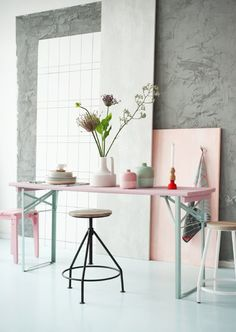 #HomeDecor Trend 2014: Pastels, by Present Time! #PresentTime Home Decoration with Pastel Colors - #PT #Vazen #Woonaccessoires