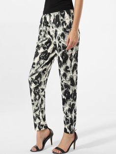 Pockets leopard printed Pegged Mid-rise waist Casual-pant