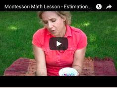 Montessori Math Lesson - Estimation Jar This tutorial is designed for parent/educator and child (ages This video tutorial is property of My Works Monte. Montessori Math, Math Lessons, My Works, Parenting, Education, Children, Young Children, Kids, Childcare