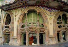 """tremblingcolors: """" Art Nouveau architecture - Casa Comalat in Barcelona 1911 """" Architecture Art Nouveau, Historical Architecture, Amazing Architecture, Architecture Details, Gaudi, Art Nouveau Arquitectura, Mountain Waterfall, Art Nouveau Design, Amazing Buildings"""