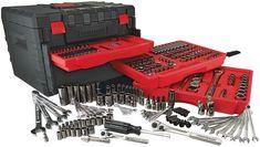 Craftsman Mechanics Tool Set 258 Piece Alloy Kit w/ Black 3 Drawer Storage Case