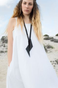 Origami pendant | Polygons | SS14  leather contemporary necklace