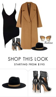 """""""Untitled #3812"""" by teastylef ❤ liked on Polyvore featuring Janessa Leone, Gianvito Rossi and Dita"""