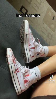 Punk Fashion, Diy Fashion, Fashion Shoes, Punk Shoes, Fashion Design Sketches, Clothing Hacks, Painted Shoes, Custom Shoes, Aesthetic Clothes