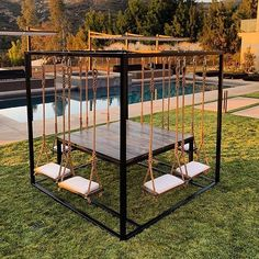50 summer diy projects pallet swings design ideas and remodel Future House, Outdoor Living, Outdoor Decor, Outdoor Bedroom, Summer Diy, Summer Swag, House Goals, Dream Rooms, Backyard Patio