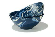 Sylvie Saint-Andre Perrin's Marbleized dinner ware