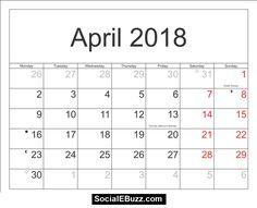 april 2018 calendar printable template with holidays pdf usa uk april calendar 2018 april calendar march 2018 printable calendar word excel canada