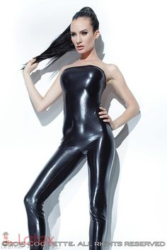 Fantastic #WetLook #Jumpsuit from new #Coquette Darque Collection. Code #SUMMER15 to get your 10% OFF