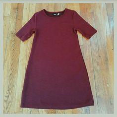 NWT BDG burgundy mini dress! Size S Burgundy mini dress! NWT! Half sleeve, the most flattering bit of A-lining! Super cute!  Offers welcome! Bundles preferred! Urban Outfitters Dresses Mini