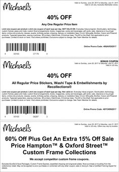 79b8f9c0db2 Michaels coupon   Michaels promo code from The Coupons App. off a single  item at Michaels